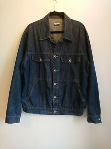 Men's Paul Smith Jeans Dark Blue Denim Jacket Size XL Western Shacket
