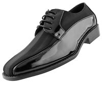 Mens Shoes - Satin Formal Lace Up Dress Shoes for Men - Oxford Shoes for Men
