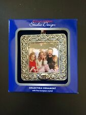 2019 Silver Square Frame Ornament NIB