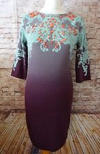 River Island Women Purple/ 3/4 Sleeve/Holiday/Summer/Party/Dress Size UK14/EUR42