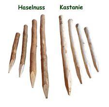 Zaunpfosten Kastanie / Haselnuss Staketenzaun Pfosten Holz Zaun Pfahl Natur Tor