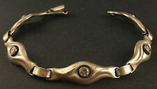 Sten & Laine Modernist Armband aus 925er Silber mit Bergkristall Finnland 1988
