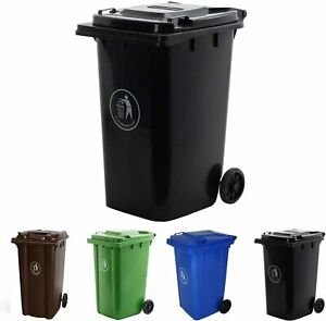 Wheelie Bin, 240 L Outdoor Trash Can - Customer Returns