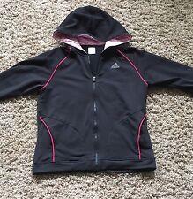 Adidas Track Jacket With Hoodie - Black Women's Small/medium