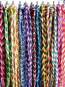 Braided cord plait wristband bracelet festival surf Fair Trade - choose colour