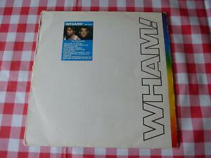 WHAM! THE FINAL ORIGINAL 1986 EPIC RECORDS DOUBLE VINYL 2LP SET + INSERT