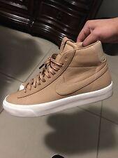 Nikelab Blazer Size 8.5 Vachetta Tan Premium Leather Nike Riccardo Air Force 1