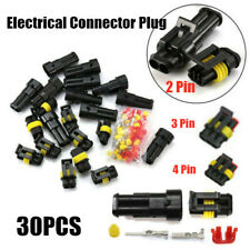 20x 2/3/4 Pin Waterproof Car Electrical Connector Plug Terminals Harness Sockets