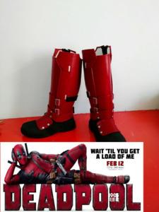 Deadpool Cosplay Superhero X-Men Boots Shoes High Quality Customize