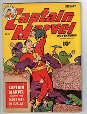 "Captain Marvel Adventures #32 ~""Deep in the Heart of Dallas"" 1944 (6.5) WH"