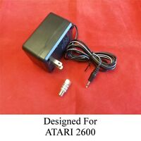 New AC Power Supply Adapter For ATARI 2600 System Console & TV Connector NIB