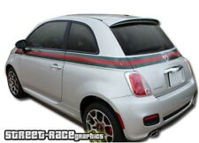 Fiat 500 side racing stripes 034 Gucci style decals vinyl graphics stickers