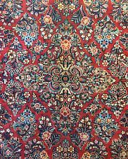 Sensational Sarouk - 1920s Antique Persian Rug - Floral Carpet - 8 x 10.2 ft.