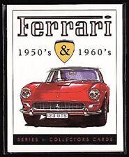 FERRARI 1950's & 1960's - Collectors Card Set - 250 GT SWB GTO 275 330GT 365GTC