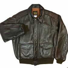 Avirex USAF GOAT Leather A-2 US AIR FORCE Pilot Bomber Coat Army Flight Jacket