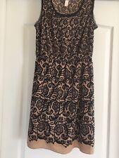Rodarte for Target floral dress brown frayed sleeveless ,  size M
