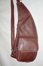 KATANA Sac monobretelle holster en cuir réf 81214 (noir, marron ou marron foncé)