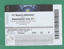 Orig.Ticket  Champions League  2011/12  BAYERN MÜNCHEN - MANCHESTER CITY  !!