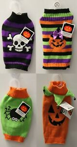 4-SET XS HALLOWEEN DOG SWEATERS Halloween Costumes Pumpkin Knit Holiday NEW