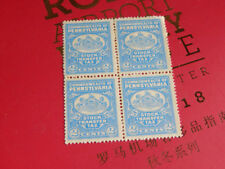 Commonwealth of Pennsylvania Stock Transfer Tax - Block of 4 - 2 cent stamps