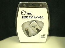 Brand New SIIG USB 2.0 to VGA CABLE- Add 2nd Display Via USB Port [JU-000071-S1]