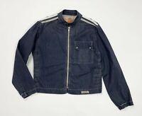 Meltin pot jason jacket jeans uomo usato M leggera blu giacca giacchetta T4971