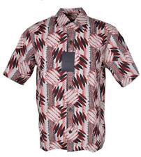 New Prada Men's UCS280 Camacia Popeline Wallpaper Amaranto Dress Shirt XS