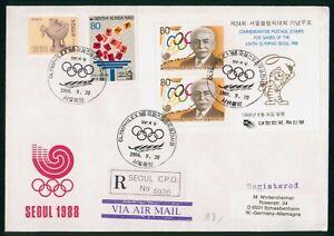 Mayfairstamps Korea 1988 Olympics Seoul Souvenir Sheet Combo cover wwp1139