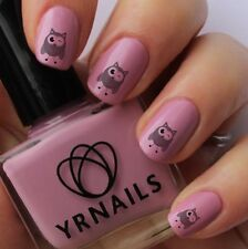 Nail WRAPS Nail Art Water Transfers Decals - Cheeky Owl - S889