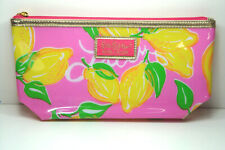 2x Lilly Pulitzer for Estee Lauder RARE Pink w/Lemons  Cosmetic Makeup Bag NEW