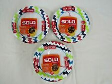 """3 x 34 Count NIB Solo Cup AnyDay 6.785"""" Paper Plate Packs (102 plates total)"""