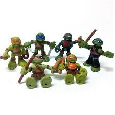 Lot 6pcs TMNT Half-Shell Heroes Teenage Mutant Ninja Turtles Action Figure Toy