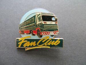 Eddie Stobart Fan Club Truck Lorry Enamel Badge Pin Brooch