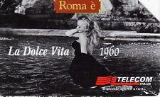 *G 976 C&C 3054 SCHEDA TELEFONICA USATA ROMA E' LA DOLCE VITA