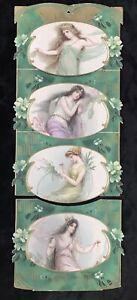 ANTIQUE 1905 DIE CUT CALENDAR ~12 MONTHS~FAIRIES