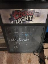 Coors Light Menu Lighted Sign