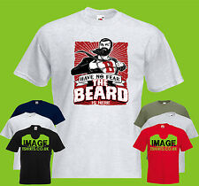 Have No Fear, The Beard Is Here Mens PRINTED T-SHIRT Superhero Movember Funny