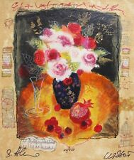 Alexander Wissotzky FRUIT AND ROSES Hand Signed Limited Edition Serigraph Art