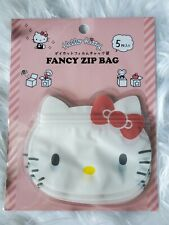 New listing Sanrio Hello Kitty Fancy Zip Bags 5 Count