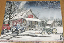 John Deere & Coca-Cola Winter Crafters Unfinished Tapestry Wall Hanging Fabric