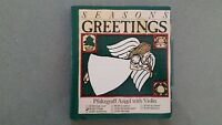 Vintage 1989 PFALTZGRAFF Seasons Greetings CHRISTMAS ANGEL with Violin ORNAMENT
