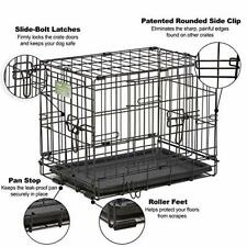 Dog Crate   MidWest iCrate XXS Double Door Folding Metal Crate w/ Divider Panel,