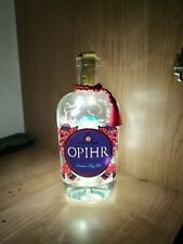 Opihr Gin Bottle Mood Lamp With Warm White LED Lights + 3 Spare Batteries!