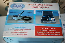 EXPO AB605 SUPER DETAIL AIRBRUSH SET MIT KOMPRESSOR. NEU WARE