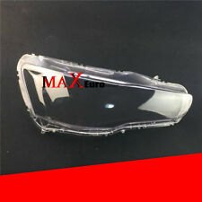 1Pair LEFT and RIGHT Headlight Headlamp Lens Cover For Mitsubishi Lancer 08-15