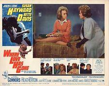 Susan Hayward Joey Heatherton Where Love Has Gone Original 11x14 Lobby Card LC12