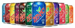 Zevia Zero Calorie Soda Rainbow Variety Pack 12 Ounce Cans Pack of 24