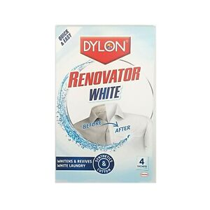 Dylon Renovator Whitener Revives Brightens White Laundry Clothes Wash - 4 Sachet