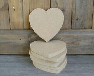 hearts shapes rustic hearts craft job lot x7