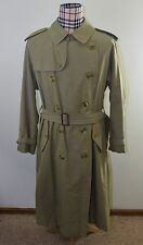 Vintage BURBERRY Men's Trench Coat Nova Military Khaki Belted England 42L